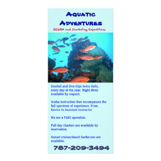 Aquatic Adventures, rack card