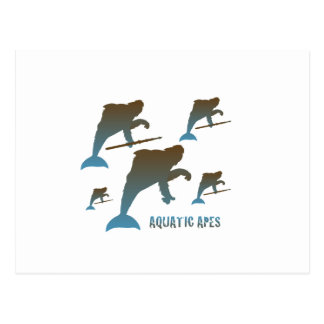 Aquatic Apes Postcard