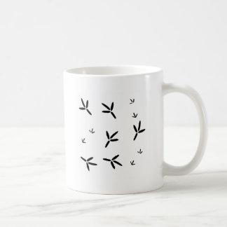Aquatic Bird Footprints Coffee Mugs