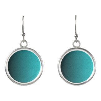 Aquatic Blue Circle Drop Earrings