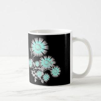 Aquatic Blue Flowers Mug