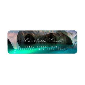 Aquatic Blue Ocean Return Address Labels