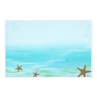 Aquatic Bubbles Stationery