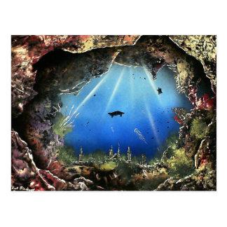Aquatic Cave Postcard
