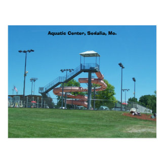 Aquatic Center, Sedalia, Mo. Postcard