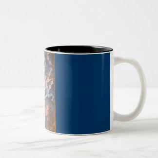 Aquatic charm Two-Tone coffee mug