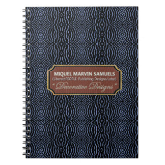 Aquatic Decorative Blue Black Modern Notebook