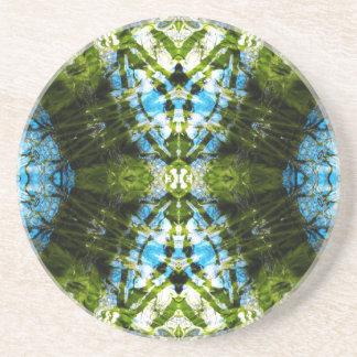 Aquatic Lace - Blue and Green Coasters