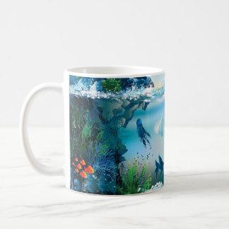 Aquatic Landscape Basic White Mug