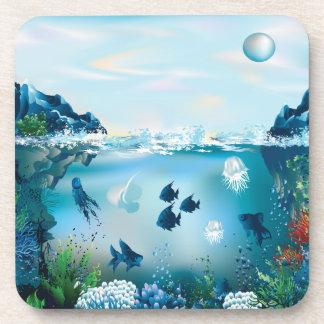 Aquatic Landscape Drink Coaster