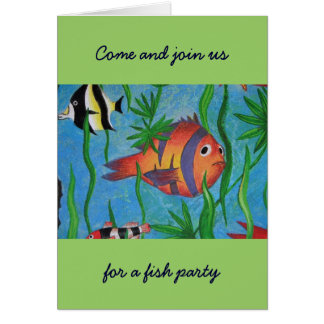 aquatic life greeting card