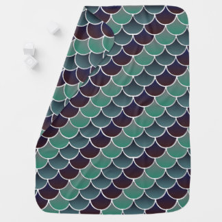 Aquatic Scales Baby Blanket
