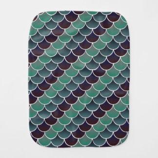 Aquatic Scales Burp Cloth