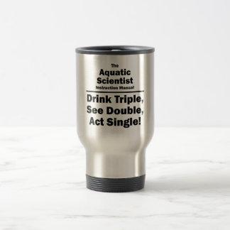 aquatic scientist stainless steel travel mug