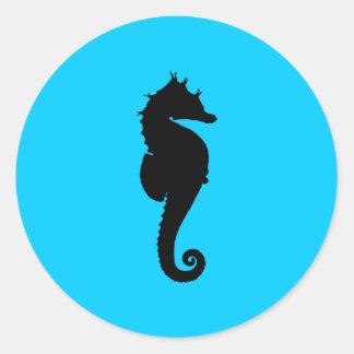 Aquatic Sea Horse Classic Round Sticker