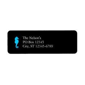 Aquatic Seahorse Return Address Label