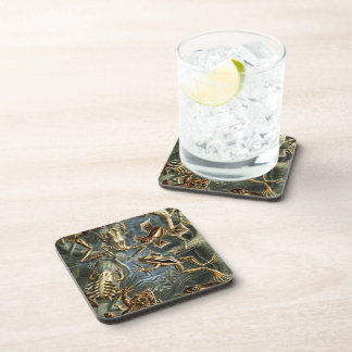 Aquatic Toads and Frogs Beverage Coasters
