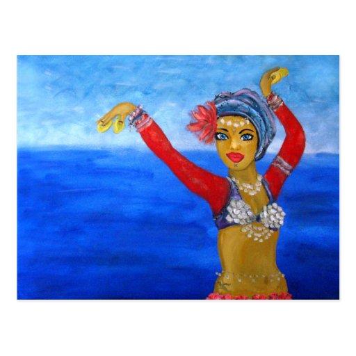 Aquatic Tribe Dancer Post Card