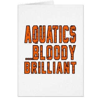 Aquatics Bloody Brilliant Greeting Cards