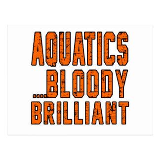 Aquatics Bloody Brilliant Post Card