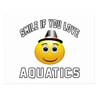 Aquatics if you love sport postcard
