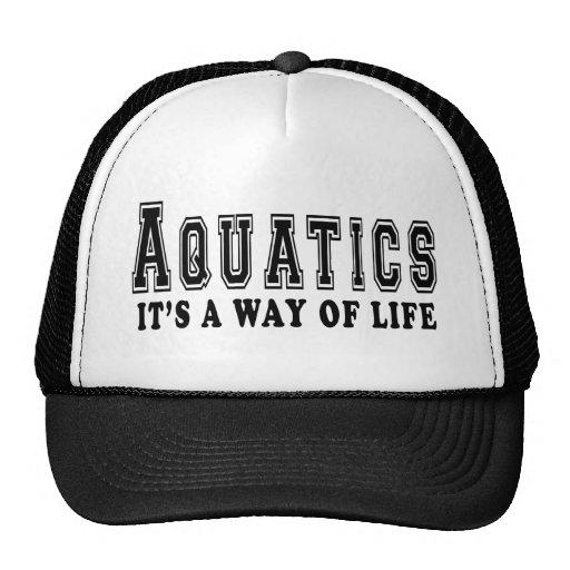 Aquatics It's way of life Hat