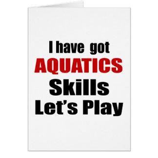 AQUATICS SKILLS DESIGNS GREETING CARD