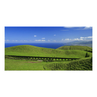 Aqueduct - Azores islands Customised Photo Card