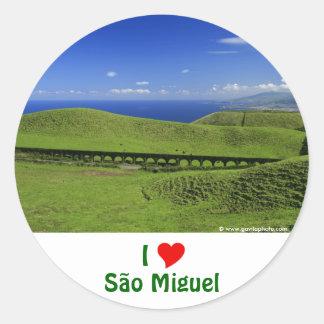 Aqueduct - Azores islands Round Sticker