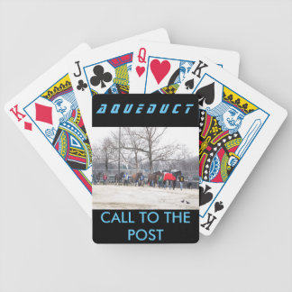 Aqueduct CALL TO THE POST Bicycle Playing Cards