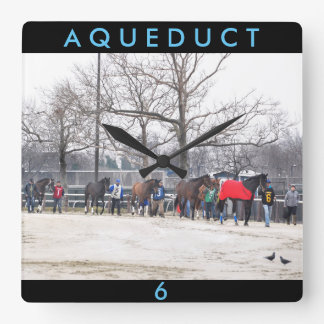 Aqueduct CALL TO THE POST Square Wall Clock