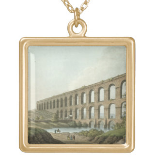 Aqueduct near Belgrade, Serbia, plate 6 from 'View Gold Plated Necklace