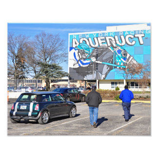 Aqueduct Racetrack on New Year's Day Photographic Print