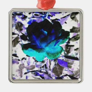 Aqueous Rose Silver-Colored Square Decoration