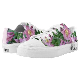 Aquilegia Flower Zipz Low Shoes Printed Shoes