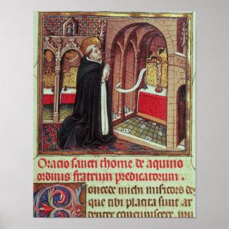 Aquinas'Libro de Horas de Alfonso el Poster