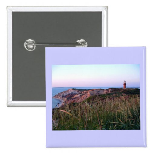 Aquinnah Sunset and Lighthouse Button