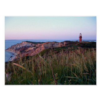 Aquinnah Sunset and Lighthouse Poster