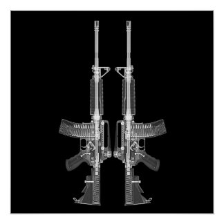 AR-15 CT scan image HIGH DETAIL POSTER