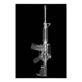 AR-15 CT scan/X-ray poster
