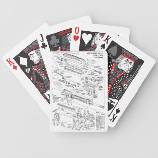 AR-15 exploded deck Bicycle Poker Deck