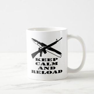 AR-15 M-16 Keep Calm And Reload Coffee Mug
