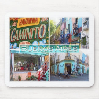 AR Argentina - Buenos Aires - Caminito street Mouse Pad