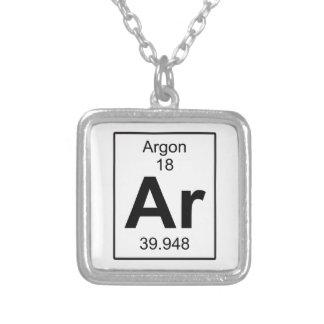 Ar - Argon Square Pendant Necklace