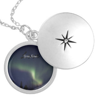 AR Aurora Reaching Locket Necklace