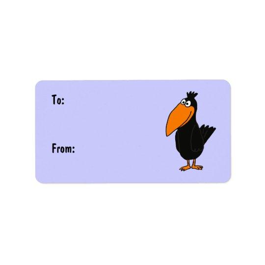 AR- Cute Crow Gift Tags