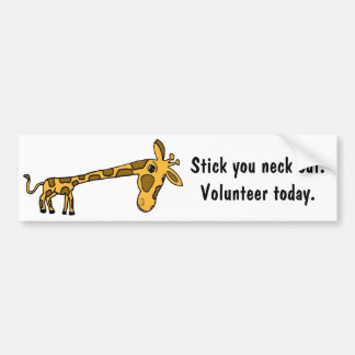 AR-Giraffe Cartoon Volunteer Bumper Sticker