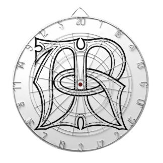 AR Gothic Monogram Dartboard