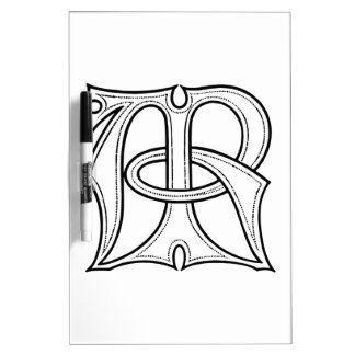 AR Gothic Monogram Dry Erase Board