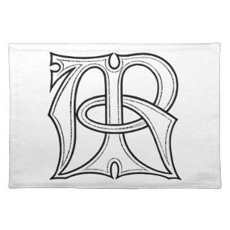 AR Gothic Monogram Placemat